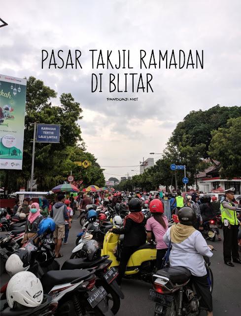 Pasar Takjil Ramadan di Blitar