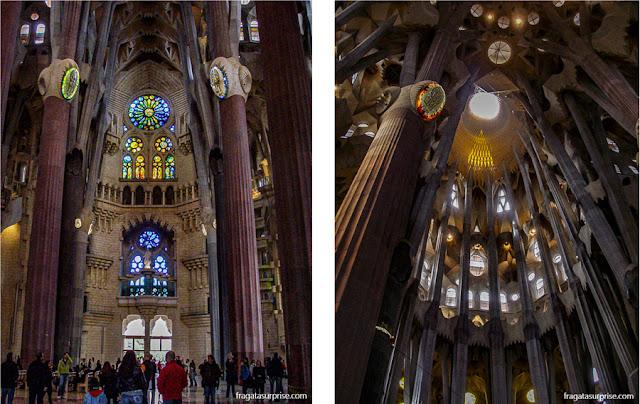 Interior da Basílica da Sagrada Família