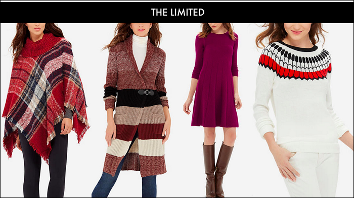 black friday deals, free shipping, plaid poncho, the limited, 60% off