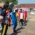 Masih Tetap Semangat, Polsek Socah Polres Bangkalan Latih Paskibraka Bersama Koramil Socah