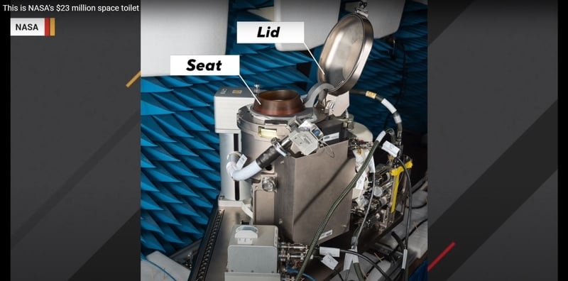 NASA's $23 million space toilet.