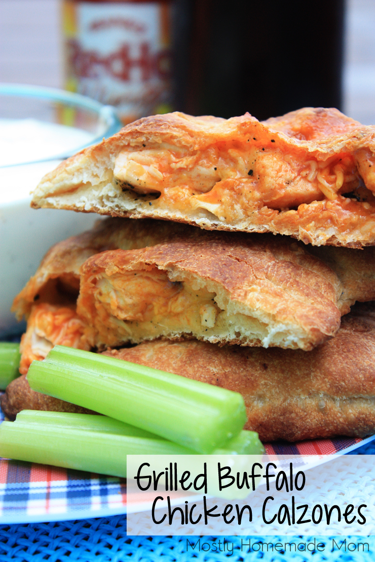 Grilled Buffalo Chicken Calzones