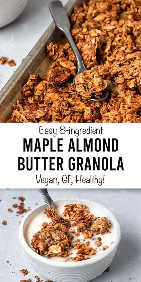 Vegan Maple Vegan Maple Almond Butter Granolalmond Butter Granola