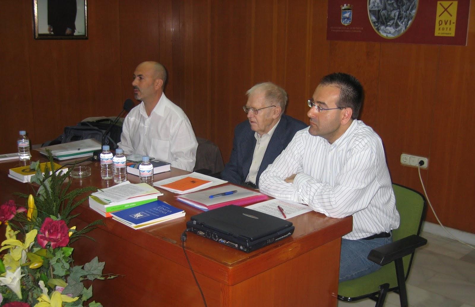 De izq. a dcha., Antonio G. Amador, Hans Orberg y Emilio Canales