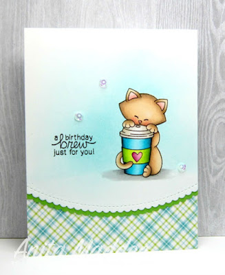 Newton Loves Coffee Card by Anita Maddon featuring Newton's Nook Deisgns