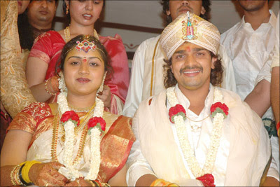 Vijay Raghavendra and Spandana at wedding