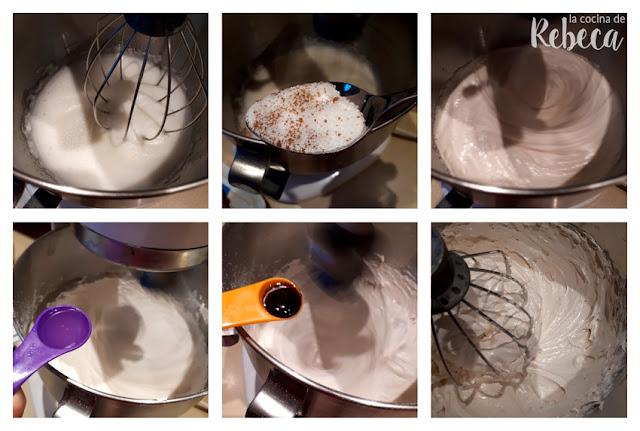 Receta de pastel Pavlova: montado del merengue