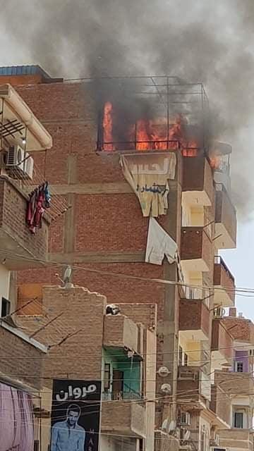 اندلاع حريق هائل بمنزل في سوهاج