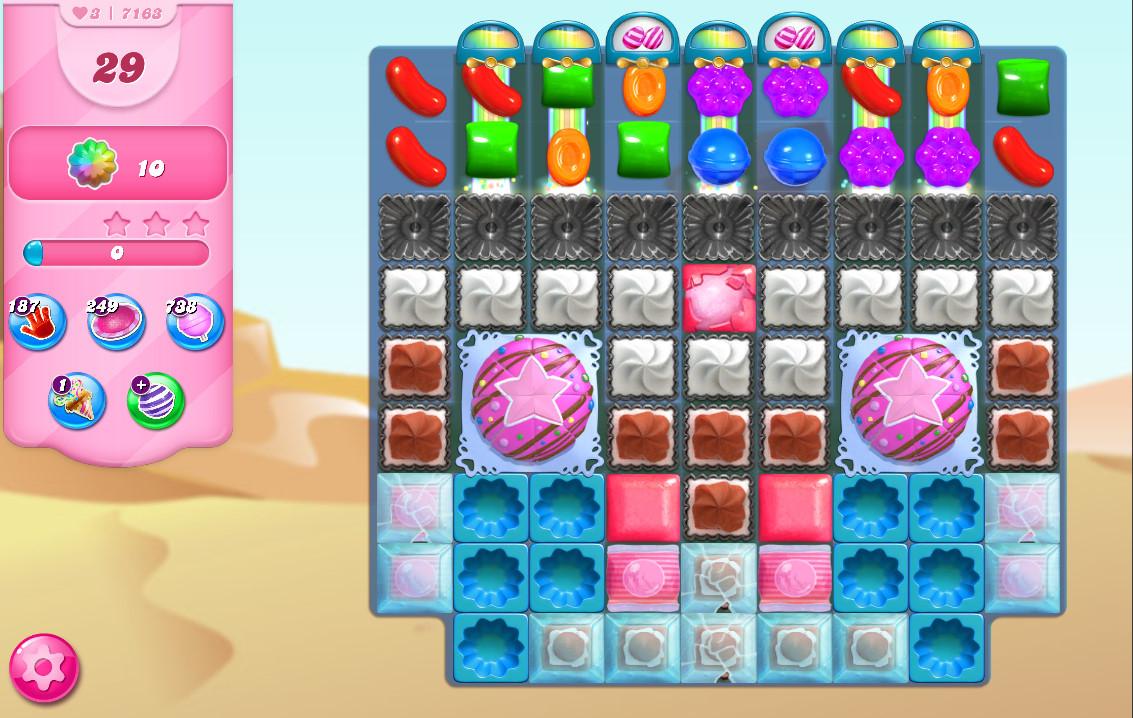 Candy Crush Saga level 7163