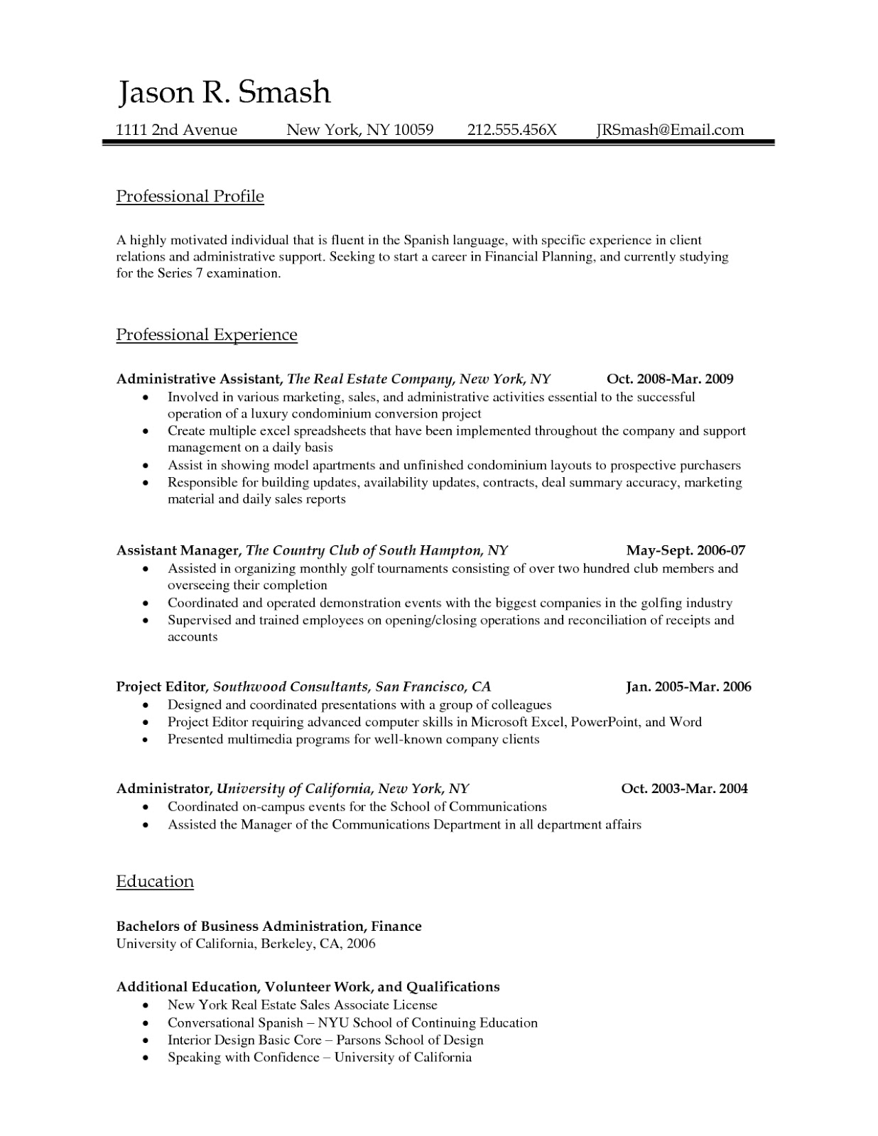 Open Office Resume Template  Cover Letter