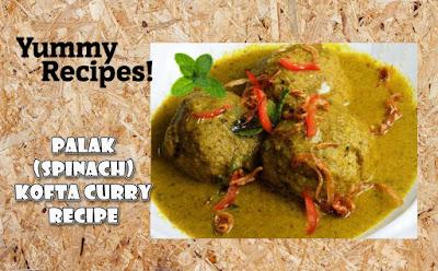 Palak Malai Kofta Curry Recipe - Spinach Kofta Curry Recipe