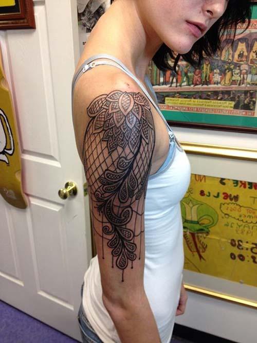 dantel dövmeleri lace tattoos 30