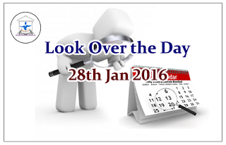 Look Over the Day – 28th Jan 2016