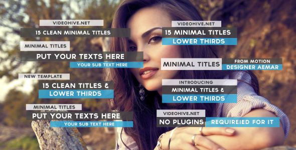 15 Clean Minimal Titles (VideoHive – 10126277)