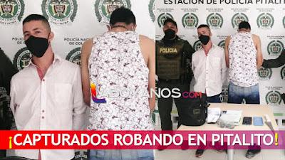 Capturados luego de robar a un ciudadano en Pitalito