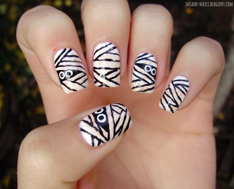Halloween nail art challenge 2013 - mummy - insane nails