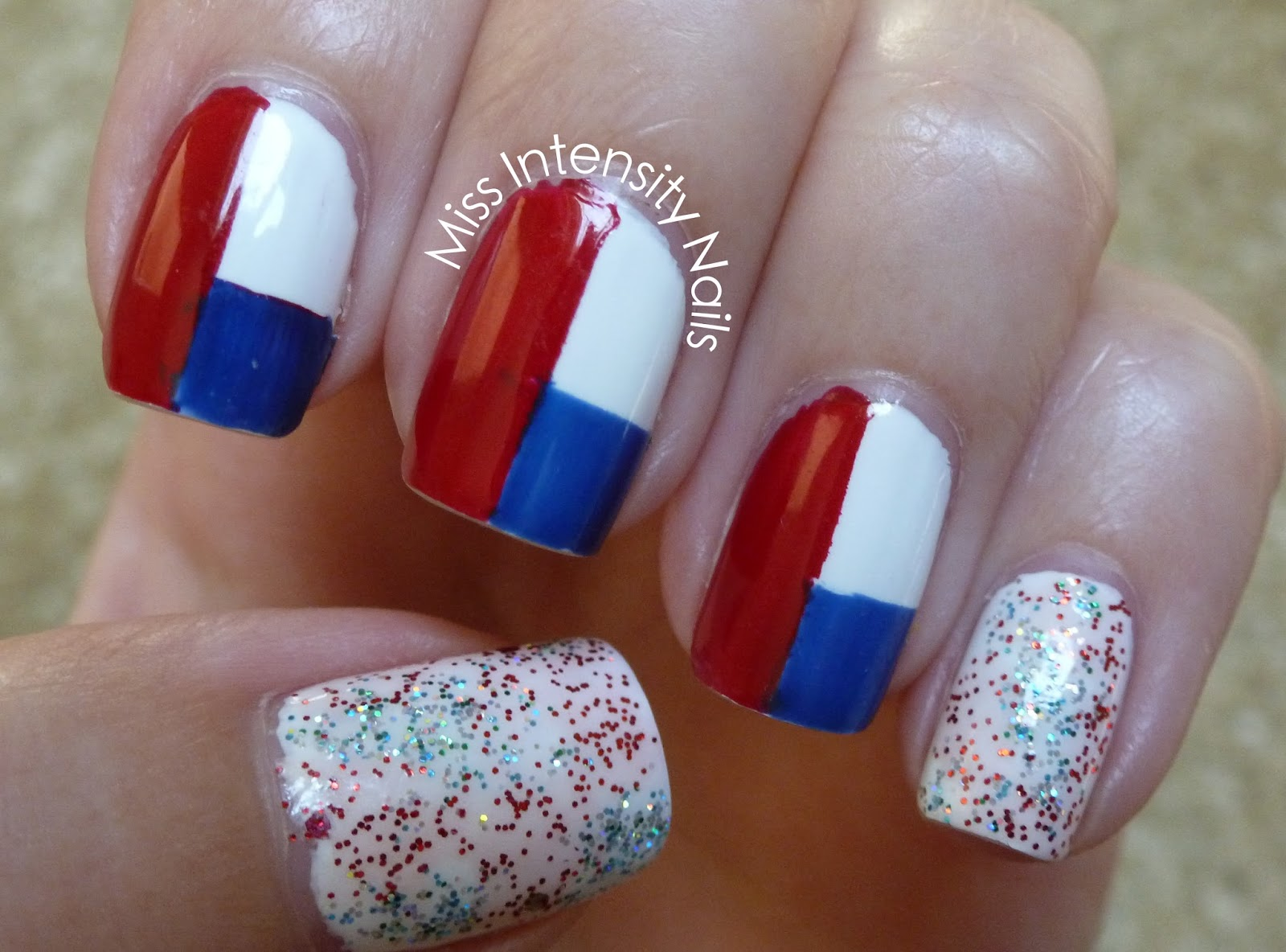 Miss Intensity Nails: NOTD - Fourth of July Nails