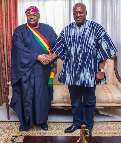Ghana's President gives Mike Adenuga highest honour