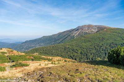 Grzbiet Babiej Góry z Małej Babiej Góry