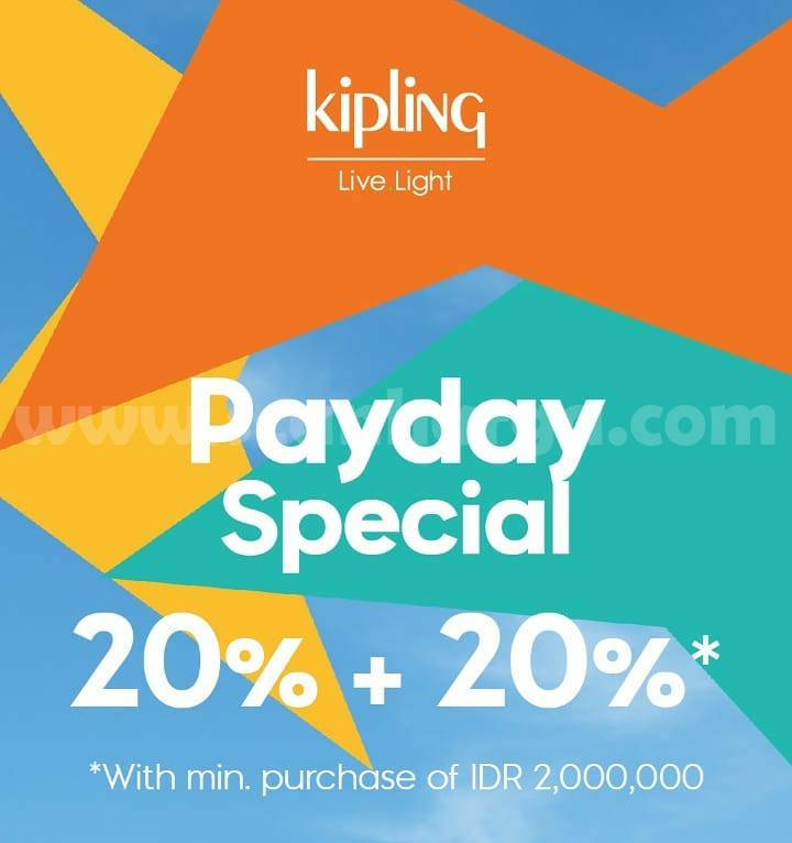KIPLING Promo PAYDAY SALE Up 20% + 20%
