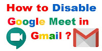 how to disable google meet in gmail in pc