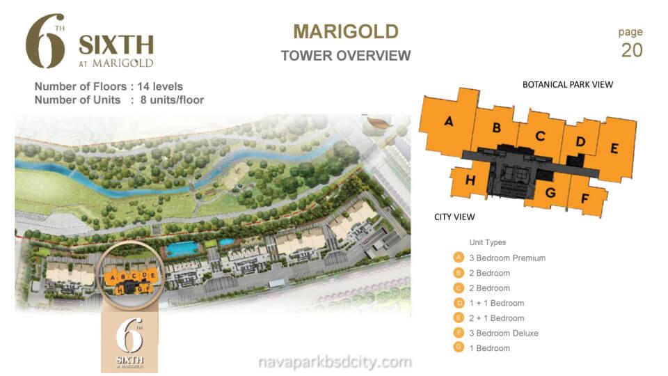 Lokasi Marigold NavaPark BSD Tower 6
