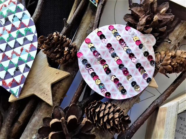 Atelier créatif pour occuper les enfants gratuit à imprimer décoration de boules de Noël Tête de Coucou