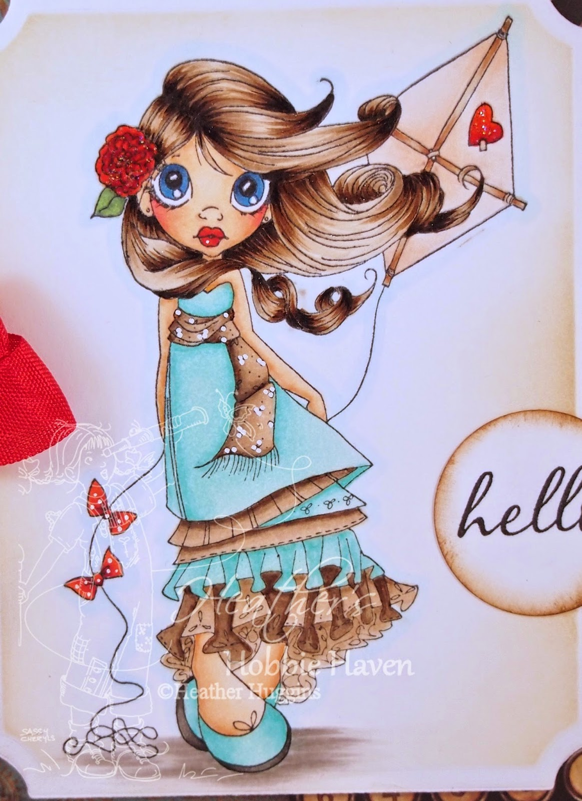 Heather's Hobbie Haven - Windy Day Card Kit