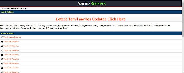 MarinaRockers Tamil Movies website