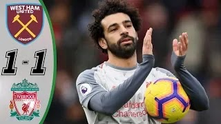 West Ham vs Liverpool 1-1 Football Highlights and Goals 2019