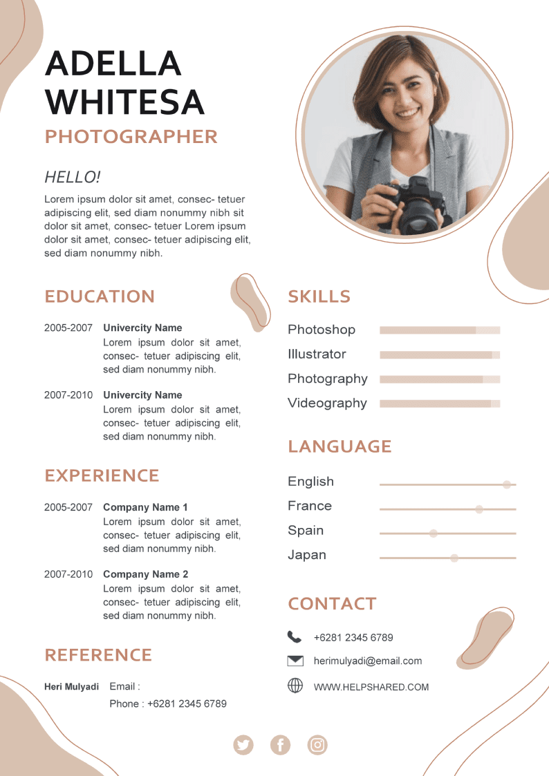 unique cv template