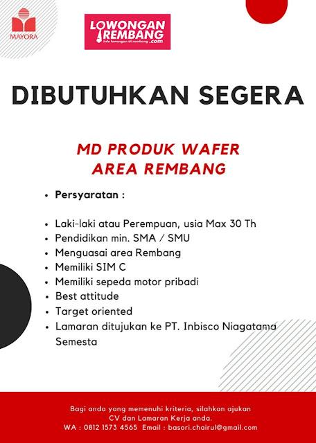 Lowongan Kerja Motoris Mayora Wafer Rembang
