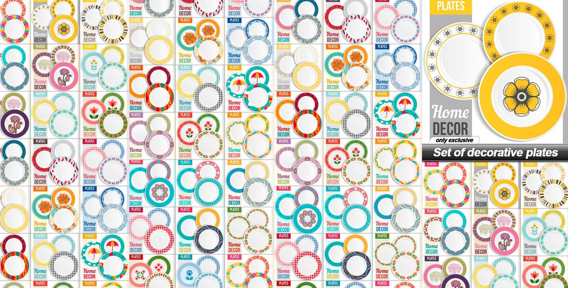 تحميل تصاميم الطباعة على الاطباق الصينى والبلاستيك بصيغة فوتوشوب وفيكتور EPS&PSD