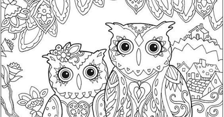 Pinto Dibujos: Mandala de Búhos para colorear
