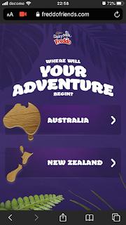 オーストラリアのチョコレート、Freddoのサイト