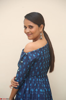 Anchor Anasuya in a Blue Gown at Jai Lava Kusa Trailer Launch ~  Exclusive Celebrities Galleries 029.JPG