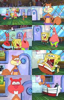 Polosan meme spongebob dan patrick 1 - spongebob, patrick, squidward, tuan krab ribut dengan sandy