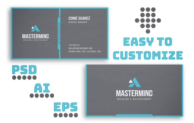 Creative Mastermind Business Card Template