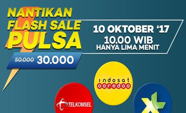 Flash Sale Pulsa Lazada - Lazada.co.id