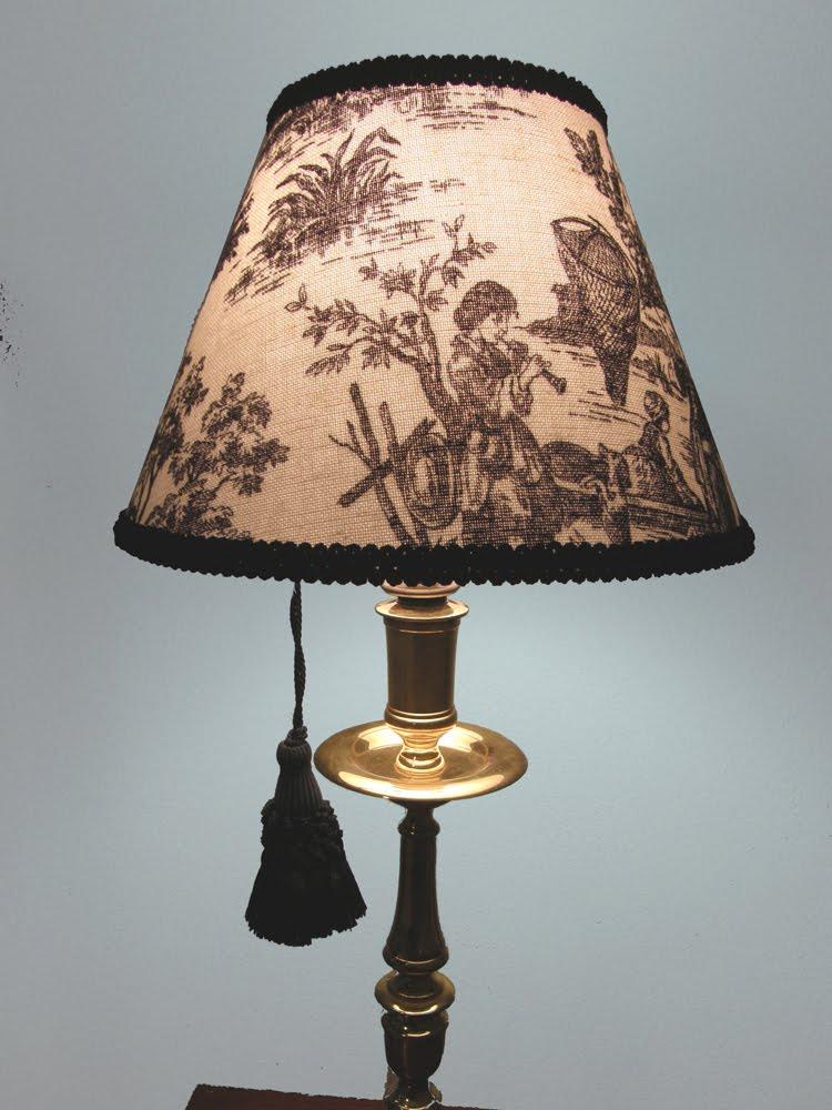 Amongst The Oaks: Toile Lamp Shades