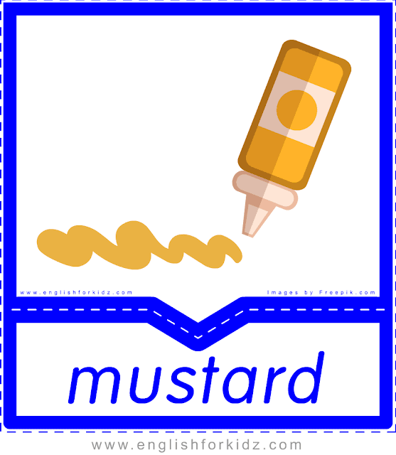 Mustard - English food flashcards for ESL students