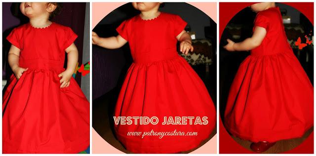 http://www.patronycostura.com/2016/02/diy-vestido-nina-con-jaretas-abotonado.html