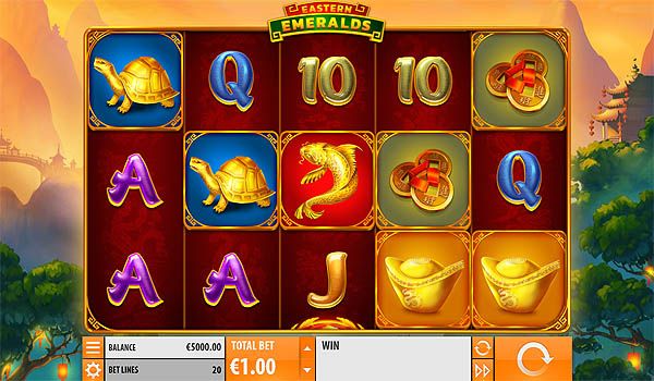 Main Slot Gratis Indonesia - Eastern Emeralds (Quickspin)