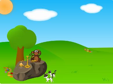 બે બિલાડી અને વાંદરો  The two cats and A Monkey, gujarati bal varta