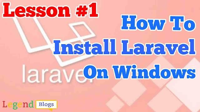 How to install Laravel on windows using wamp