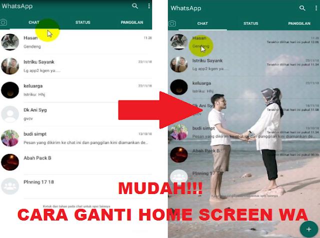 Cara Mengganti Home Screen WhatsApp Biasa Tanpa Aplikasi