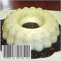Pudim de Tapioca com leite condensado e creme de leite