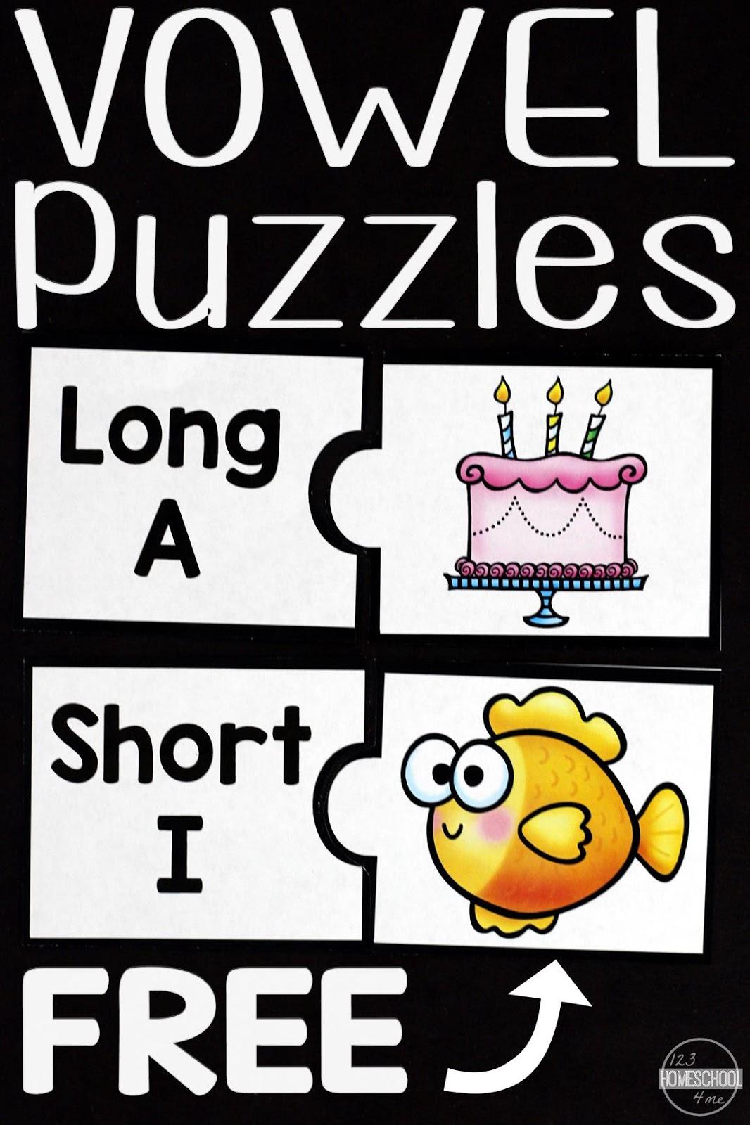 Free Vowels Puzzles