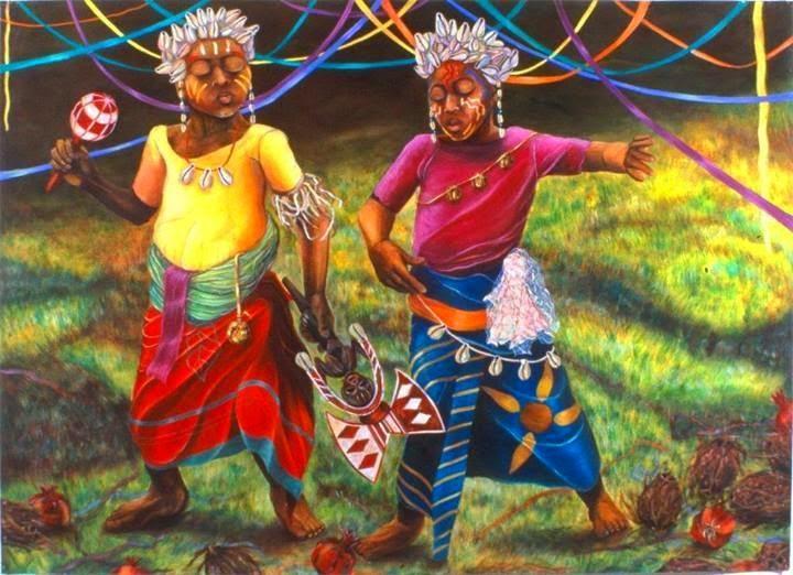 Children, African roots traditional play, the summer of Gods | artpreneure