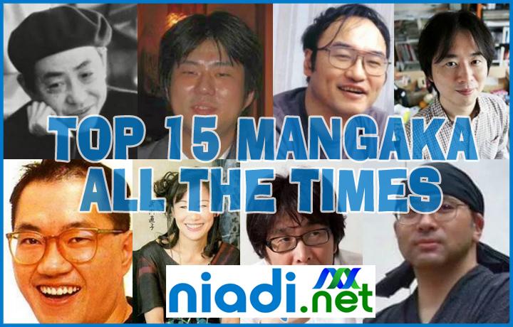 daftar mangaka terbaik di dunia, mangaka terbaik 2020 2021, komikus terpopuler, shonen jump anime ranking, daftar anime terbaik 2021, best top 15 mangaka all the times terbaik sepanjang masa